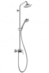 Croma 100 Showerpipe, с однорычажным cмесителем